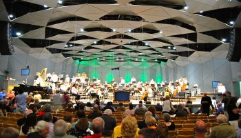 Orchestra playing at Tanglewood