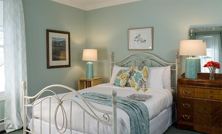 Remodeled room at our Romantic Massachusetts Getaway