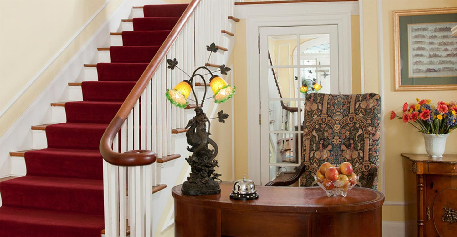 Lodging in the Heart of the Berkshires historic staircase
