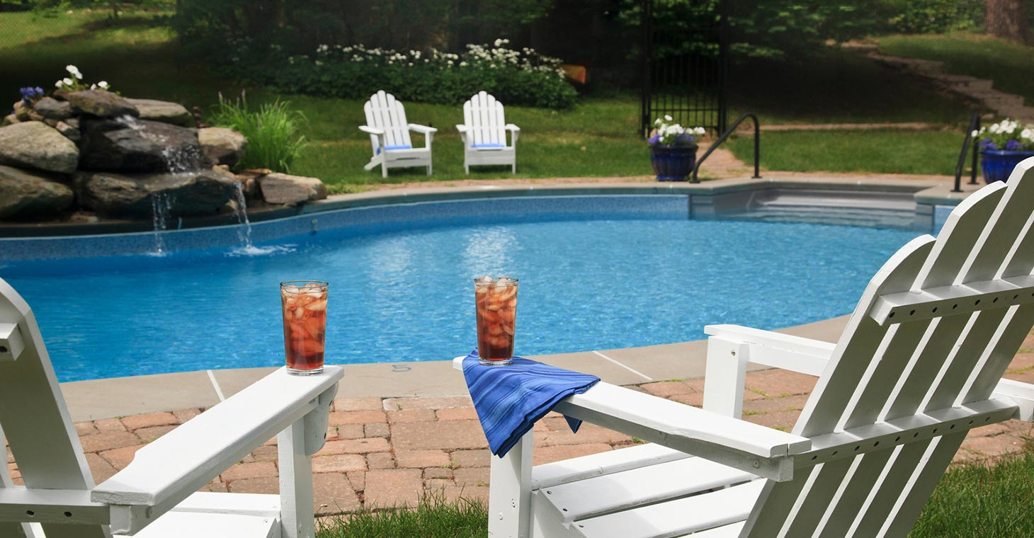 Outdoor pool in our Bed and Breakfast in Lenox, MA