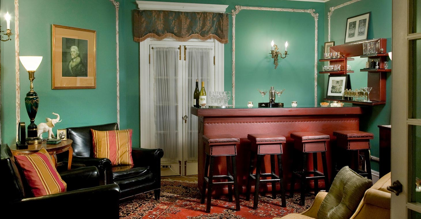 Gilded era bar in our Lenox, MA Bed and Breakfast