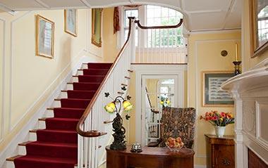 Hampton Terrace Inn stairwell and entrance