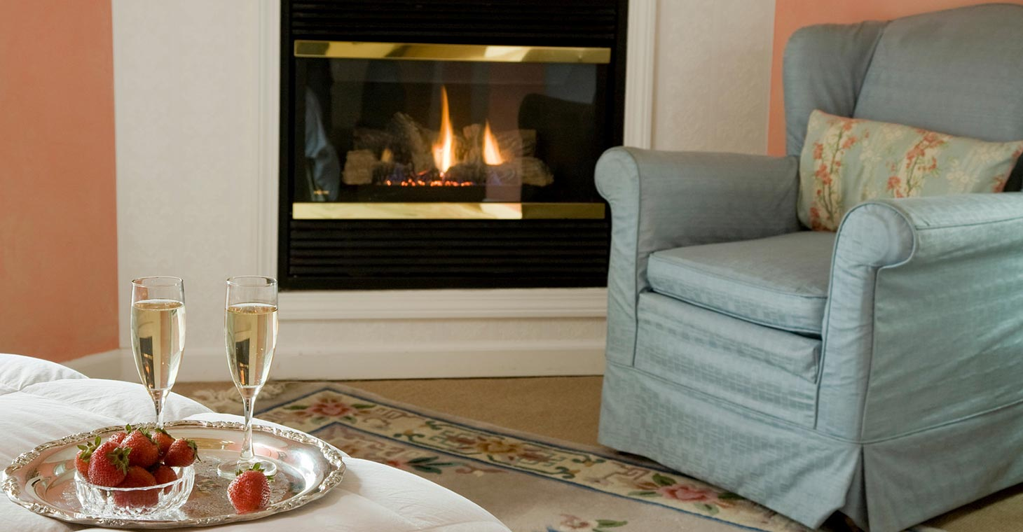 Berkshires Bed and Breakfast with romantic fireplaces