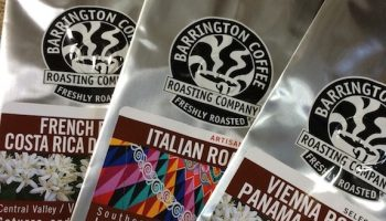 Bags of Barrington Coffee