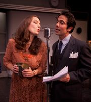 Actor and actress in a play