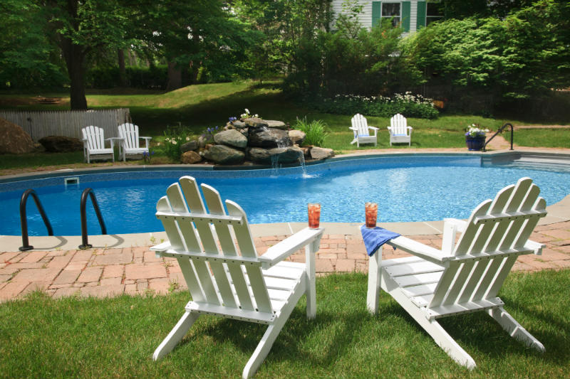 Adventures in the Berkshires - The pool at our Inn