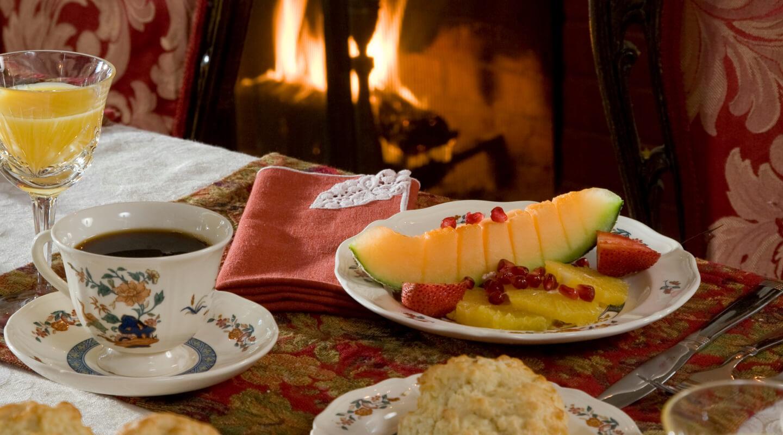 Breakfast Buffet by Fire