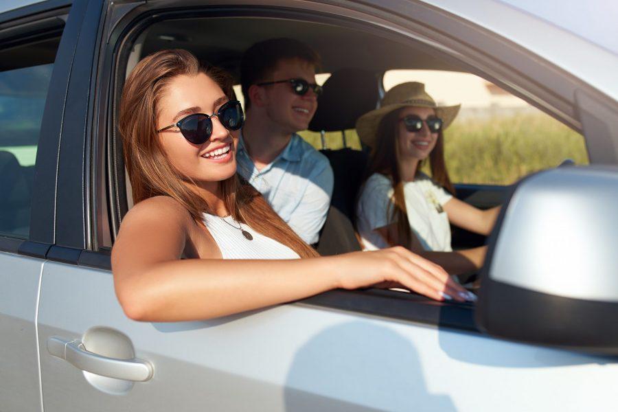Friends Enjoying a Driving Tour