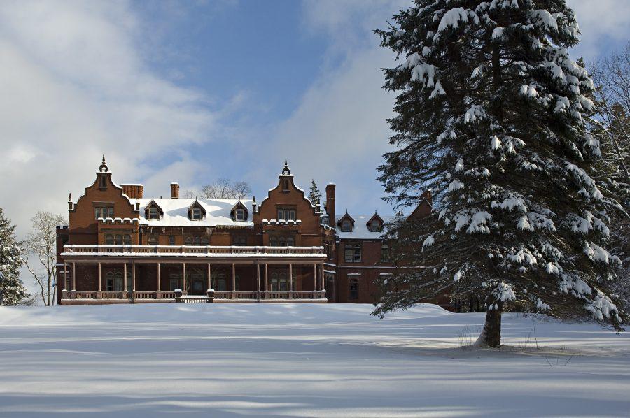 Ventfort Hall in the snow